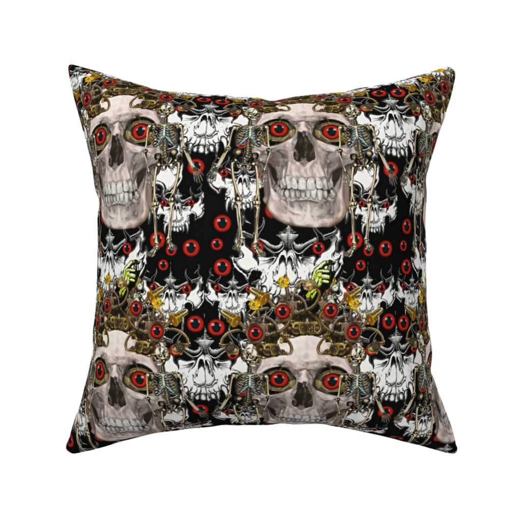 Catalan Throw Pillow featuring Skullapaluza by whimzwhirled