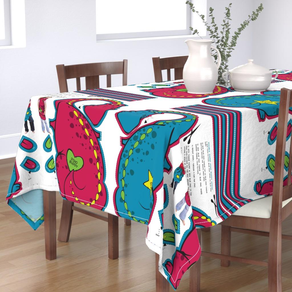 Bantam Rectangular Tablecloth featuring Dino Reversable Apron - Double Sided by fuzzyskyfabric