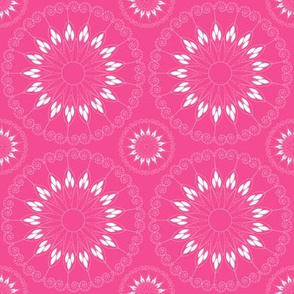 stylized pink flower pattern