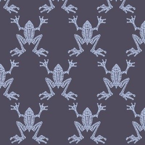 Fabulous Frogs - Midnight Blue (small-scale version)