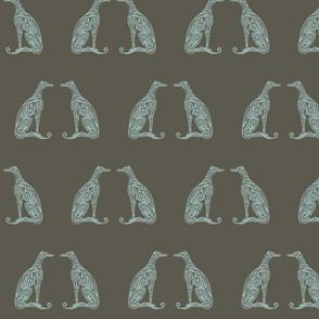 Greyhounds - Seeing Double - Olive & Aqua