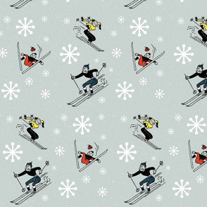 Retro-Skiing
