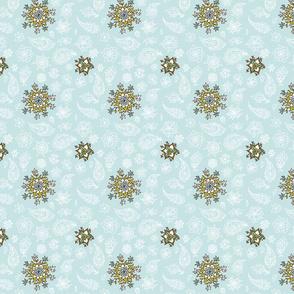 Snowflakes in oriental style