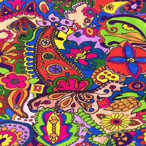 RetroCDG Hippie Doodle