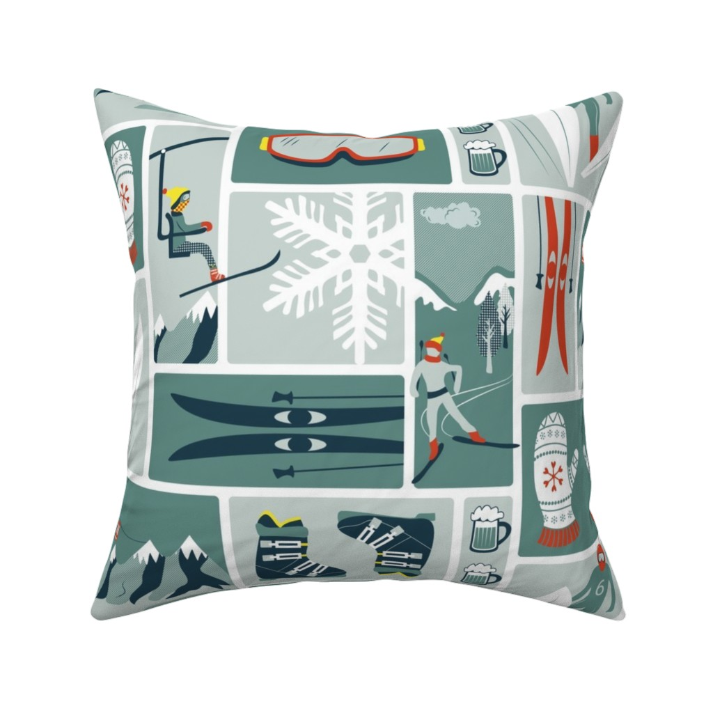 Catalan Throw Pillow featuring Nordic winter by ebygomm