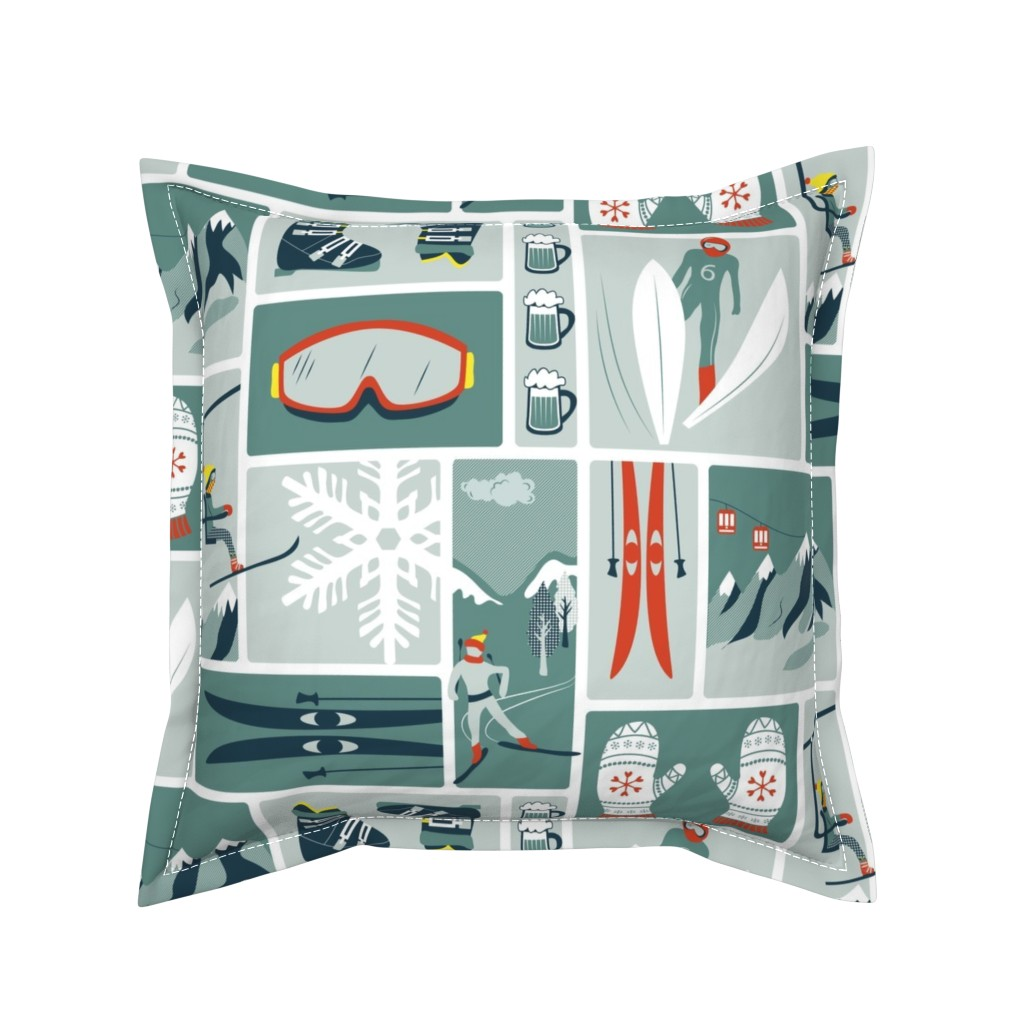 Serama Throw Pillow featuring Nordic winter by ebygomm