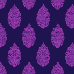 Solo Paisley Damask~ Horatio and Fuschia