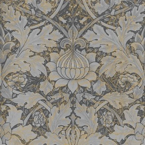 William Morris ~ St. James or Growing Damask ~ Grey Garden