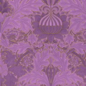 William Morris ~ St. James or Growing Damask ~ Hothouse Flower and Gilt