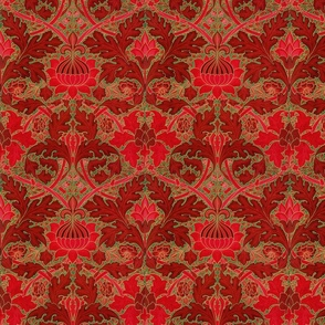 William Morris ~ St. James or Growing Damask ~ Christmas in London