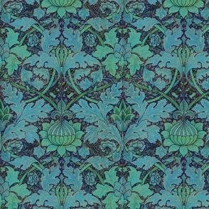 William Morris ~ St. James or Growing Damask ~ Night Garden
