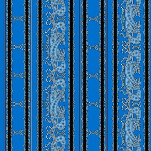 Celtic Knot Greyhounds, blue stripes