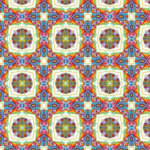 Mandala brightbead kaleidoscope square