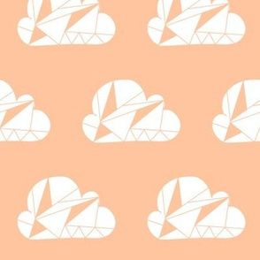 Geometric Clouds Peach