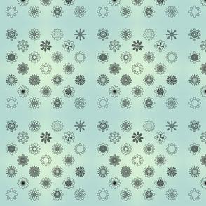 Gear Floral Green Gradient