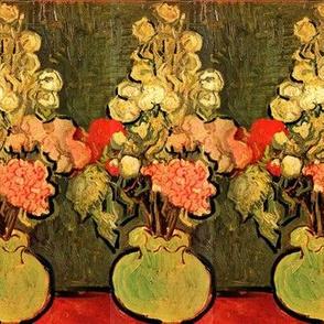 van Gogh Still Life Vase With Rose Mallows 1890