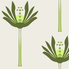 Block Print Plant with stem