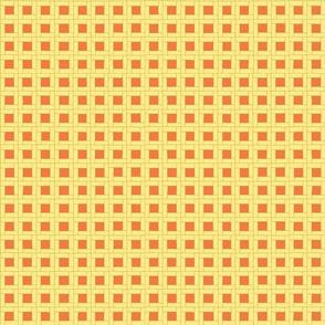 Garden Wicker Weave in Soft Yellow and Orange