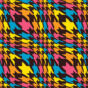 psychedelic houndstooth