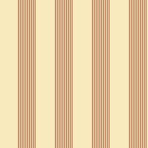 apple stripes - red on cream