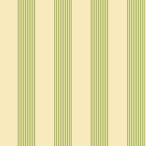 apple stripes - green on cream