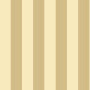 apple stripes - caramel and cream