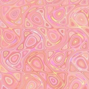 geode in sherbet pink