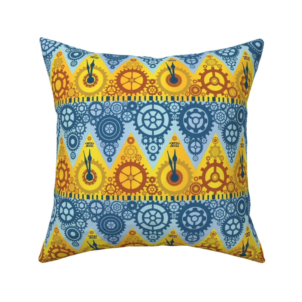 Catalan Throw Pillow featuring Clockwork Crowns by elramsay