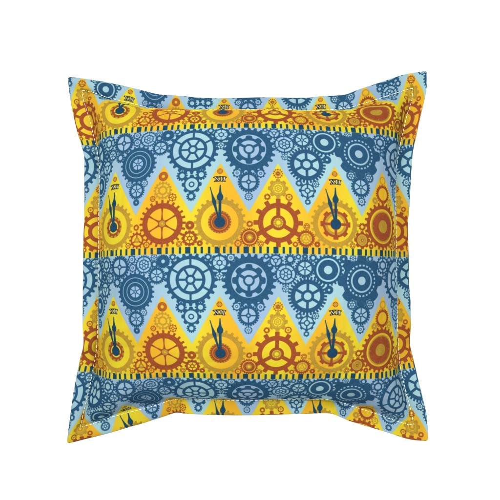 Serama Throw Pillow featuring Clockwork Crowns by elramsay