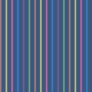 swizzle straws - rainbow on navy