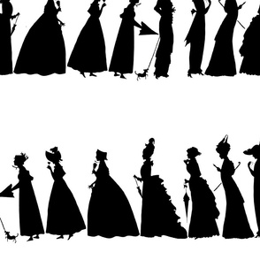 March of Fashion ~ Black  and White