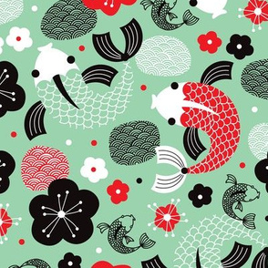 Japanese Koi Fish illustration