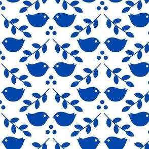 Birds - cobalt blue