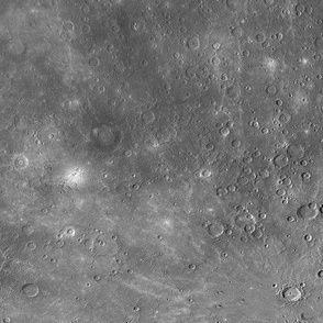 Map of Mercury (B&W)