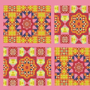 Spring Floral Cheater Quilt 2