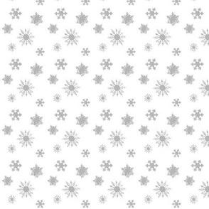 Snowflakes Silver Gray