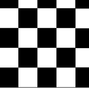 """Black & White Large Checks for 56"""" width"""