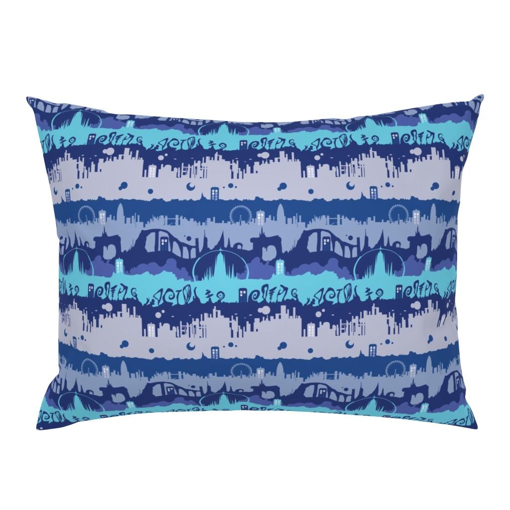 Campine Pillow Sham featuring Timey Wimey - Blu - 01 - landed by aliceelettrica