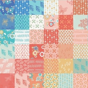 Cheery Spring Cheater Quilt