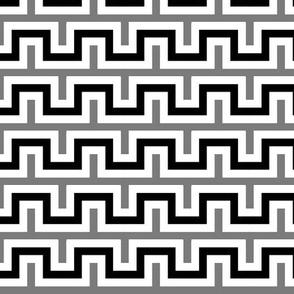 Squarest Wave - Black White Gray