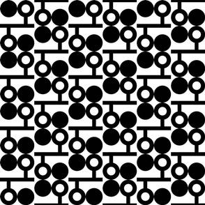 Dot Donut Line - Black White