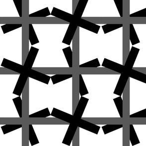 Windmill Weave - black gray