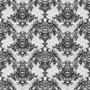 Wallpaper Floral Black and White