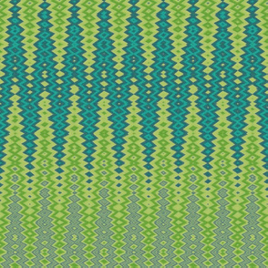 diamond chevron in green