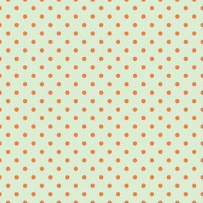 Orange Dots on Spring Mint