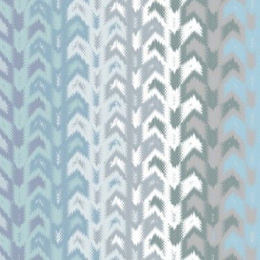 blue-grey Navajo blanket