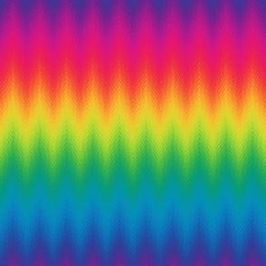 rainbow feather chevron