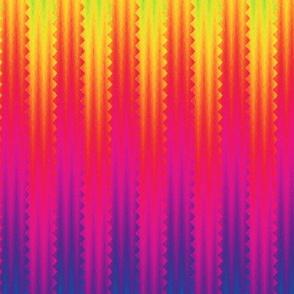 pinked rainbow stripes