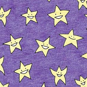 happy stars on purple
