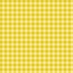 Spring Flowers Quilt gold gingham